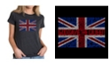 LA Pop Art Women's Premium Blend T-Shirt with God Save The Queen Word Art