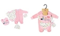 Lily & Jack Baby Girls Mouse 5 Piece Velour Layette Gift Set