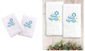 Linum Home Textiles Embroidered Hand Towels with Happy Hanukkah Set of 2