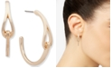 Anne Klein Gold-Tone Link Medium C-Hoop Earrings, 1.25""