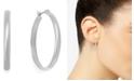 "Charter Club Medium Silver Tone Band Hoop Earrings, 1"""