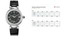 Versace Women's Swiss V-Pearl Black Leather Strap Watch 38mm VNC010014