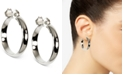 """Anne Klein Silver-Tone E-Z Comfort Clip 1 1/4"""" Wide Hoop Earrings"""