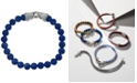Esquire Men's Jewelry Sodalite (8mm) Beaded Bracelet in Sterling Silver, Created for Macy's