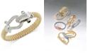 Macy's Diamond Horseshoe Clasp Mesh Bracelet (5/8 ct. t.w.) in 14k Gold-Plated Sterling Silver