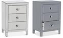 Gallerie Decor Morana Mirrored Three Drawer Cabinet