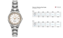 Citizen Women's Eco-Drive Silver-Tone Titanium Bracelet Watch 28mm EW2410-54A
