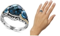 EFFY Collection Ocean Bleu by EFFY® Blue Topaz (7 ct. t.w.) Ring in Sterling Silver and 18k Gold-Plate