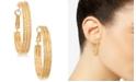 """GUESS 1 1/2"""" Textured Hoop Earrings"""