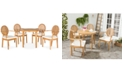 Safavieh Ellenia Outdoor 5-Pc. Dining Set (Dining Table & 4 Chairs), Quick Ship