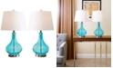 Abbyson Living Abbyson Set of  2 Alexa Glass Table Lamps