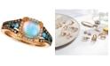 Le Vian Chocolatier® Multi-Gemstone (7/8 ct. t.w.) & Diamond (1/4 ct. t.w.) Ring in 14k Rose Gold