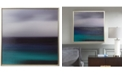 JLA Home Madison Park Signature Blue Seascape Framed Gel-Coated Canvas Print