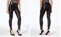 SPANX Petite Faux-Leather Moto Tummy Control Leggings