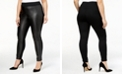 INC International Concepts INC Plus Size Faux-Leather Front Skinny Pants, Created for Macy's