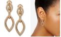 Anne Klein Gold-Tone E-Z Comfort Clip-On Double Drop Earrings