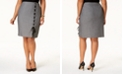 Nine West Plus Size Lace-Up Skirt