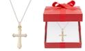 Macy's Cross Pendant Necklace in 14k Gold