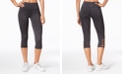 Ideology Space-Dyed Cropped Cutout Leggings, Created for Macy's