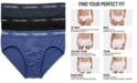 Calvin Klein Men's Cotton Stretch Hip Briefs 3-Pack NU2661