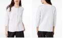 Eileen Fisher Organic Linen Zippered Cardigan