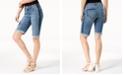 INC International Concepts INC Petite Contrast-Trim Cuffed Denim Shorts, Created for Macy's