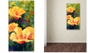 "Trademark Global Marion Rose 'Yellow Field Poppies' Canvas Art - 24"" x 12"" x 2"""