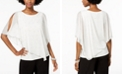 MSK Embellished Asymmetrical Overlay Top