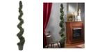 Nearly Natural 6' Cedar Spiral Indoor/Outdoor Artificial Tree