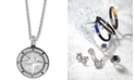 """EFFY Collection EFFY® Men's Compass 22"""" Pendant Necklace in Sterling Silver"""