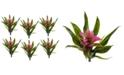 "Nearly Natural 6-Pc. 11"" Purple Bromeliad Artificial Flower Stem Set"