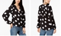 INC International Concepts INC Printed Surplice Top, Created for Macy's