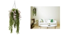 Nearly Natural Bamboo & Dendrobium Artificial Arrangement Hanging Basket