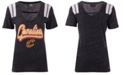 5th & Ocean Women's Cleveland Cavaliers Shoulder Stripes T-Shirt
