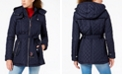 Tommy Hilfiger Petite Hooded Belted Raincoat