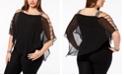 MSK Plus Size Embellished Chiffon Top