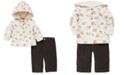Little Me Baby Boys 2-Pc. Woodland-Print Hoodie & Corduroy Pants Set