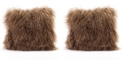 Moe's Home Collection Lamb Fur Pillow Natural