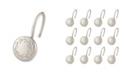 Elegant Home Fashions Shower Hooks - Poet Laureate - Brush Nickel