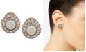 Lauren Ralph Lauren Gold-Tone Pavé & Imitation Pearl Clip-On Button Earrings