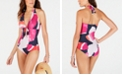 DKNY Tie-Front Halter One-Piece Swimsuit, Created for Macy's