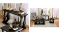 Furniture of America Pippin Weathered Walnut Sofa Table