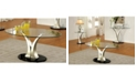 Furniture of America Mansa Glass Top Coffee Table