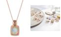 "Le Vian Opal (1-5/8 ct. t.w.) & Diamond (3/8 ct. t.w.) 18"" Pendant Necklace in 14k Rose Gold"