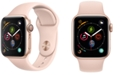 Apple Watch Series 4 AppleWatch Series4 GPS, 40mm Gold Aluminum Case with Pink Sand Sport Band