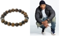 LEGACY for MEN by Simone I. Smith Tiger's Eye (10mm) Stretch Bracelet in Stainless Steel