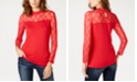 INC International Concepts INC Petite Lace-Yolk Top, Created for Macy's