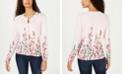 Karen Scott Flower-Print Cardigan Sweater, Created for Macy's