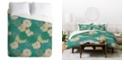 Deny Designs Holli Zollinger Flora Minted King Duvet Set
