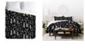 Deny Designs Heather Dutton Winter Wonderland Black King Duvet Set
